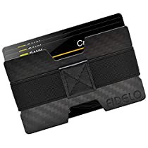 FIDELO Carbon Fiber Minimalist Wallet - Slim RFID Blocking Front Pocket credit card holder Money Clip