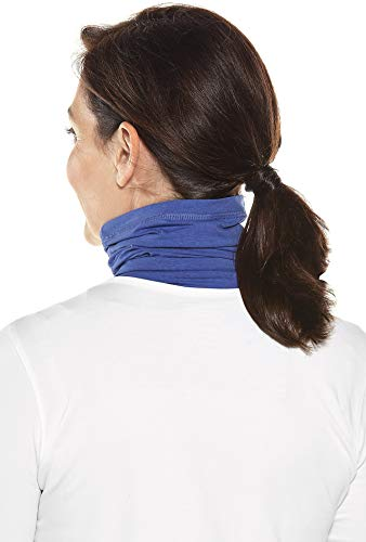Coolibar UPF 50+ Unisex Sun Neck Gaiter - Sun Protective (Large/X-Large- Empire Blue) by Coolibar (Image #2)