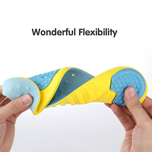 UYGHHK Shoe Insoles, Orthotic Insoles Gel Insoles, Memory Foam Insoles Providing Excellent Shock Absorption and Cushioning with Gel Pads, Best Insoles for Men and Women(Size L:Men 8-12 or Women 10-14) by UYGHHK (Image #3)