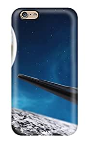 Iphone 6 Case Cover Slim Fit Tpu Protector Shock Absorbent Case Spaceship Kimberly Kurzendoerfer