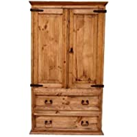 Rustic Western 2 Door 2 Drawer Armoire