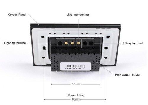 NIMTEK US/AU Standard, Smart home, Ivory White Crystal Glass Panel,VL-C302DR-81,110~250V/50~60Hz Wireless Dimmer Remote Light switch by NIMTEK (Image #3)
