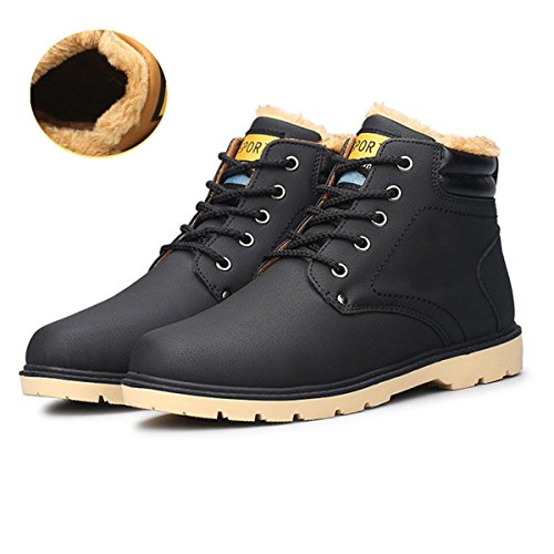 Desert Boot Classic Stivali Caldo Invernali Uomo Uomo Esterno da Boot Invernali Stivaletti Lavoro Stivali Stivali Imbottitura Martin Nero Stivali Scarpe Scarpe Gracosy con nqvwIptx0