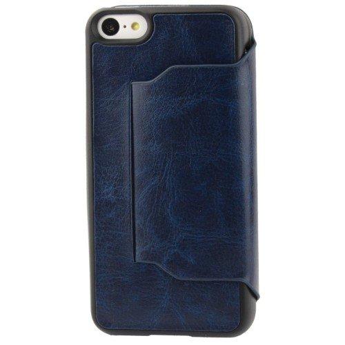 Schutzhülle Case (Flip Quer) für Handy Apple iPhone 5C Dunkelblau