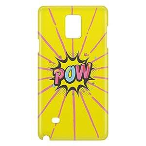 Loud Universe Galaxy Note 5 Comic Pow Print 3D Wrap Around Case - Yellow/Pink