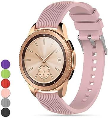 Feskio - Correa de Silicona Suave de Repuesto para Reloj de Pulsera Samsung Galaxy Watch (42 mm), Gear Sport/S2 Classic/Garmin Vivoactive3/Vivomove ...
