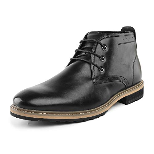 Bruno Marc Men's Bergen_11 Black Classic Dress Chukka Ankle Oxfords Boots Size 10 M US