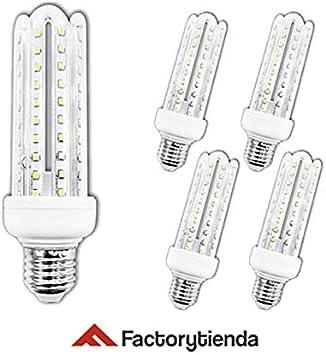 Diluxe LED - Pack X5 Bombillas LED 4U, 20W,(equivalente a 200W),Luz Fria,casquillo gordo E27, 1700 lumen, (no regulable) 360° ángulo de dispersión / 230 voltios AC,: Amazon.es: Bricolaje y herramientas