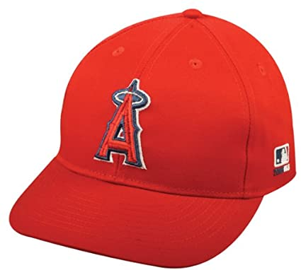 1e2694841a5843 Image Unavailable. Image not available for. Color: MLB Replica Adult Baseball  Cap Various Team Trucker Hat Adjustable MLB Licensed , Los Angeles Angels