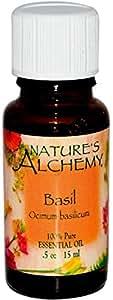 Nature's Alchemy, Basil, Essential Oil.5 oz (15 ml)