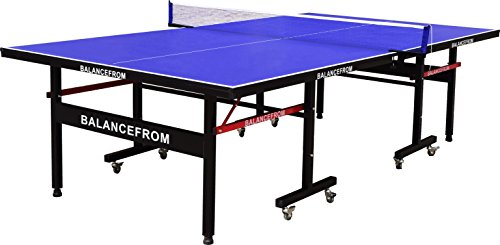 BalanceFrom Gopingpong 18mm Wood Surface Inside Table Tennis Table with Net Set BFT-TT18