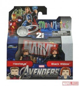 Marvel MiniMates Avengers Movie Exclusive Mini Figure 2Pack Hawkeye Black Widow (Marvel Minimate Black Widow)