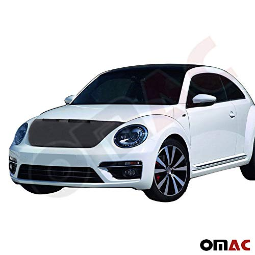OMAC USA Front Hood Cover Mask Black Vinly Bonnet Bra (Half) Stoneguard Protector for VW Beetle 2013-