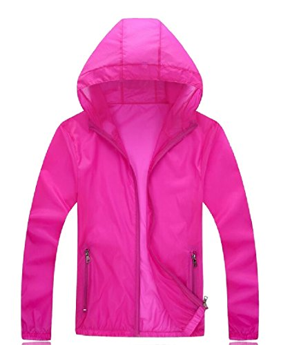 Gocgt Rose Dry Windproof Quick Coat Skin Protection Jackets Hooded Sun Mens Red UV 88wrP4q