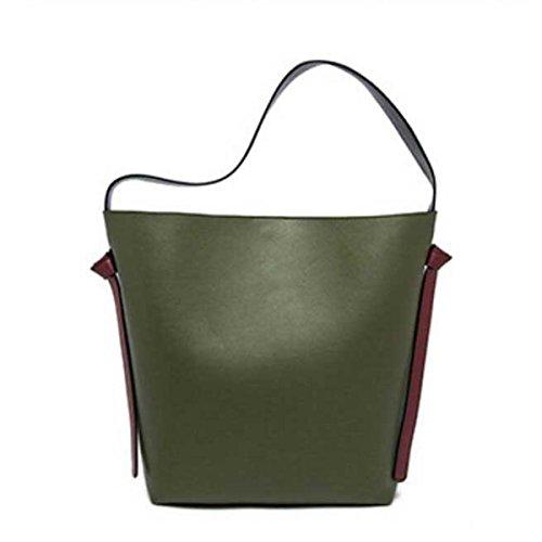 Le Donne Di Grande Capacità Secchiello In Pelle Tote Bag Borsa A Tracolla B