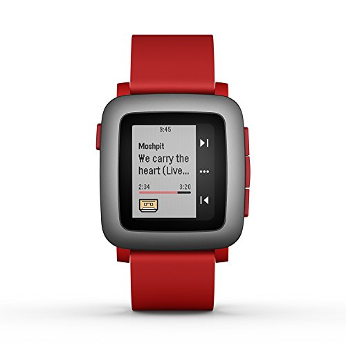 (pebble Time Smartwatch Red)