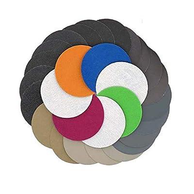 "30pcs 150mm /6"" Inch Grit 1000/1500/2000/2500/3000/4000 Water Dry Sanding Discs Hook Loop Sandpaper Round Sandpaper Disk Sand Sheet"