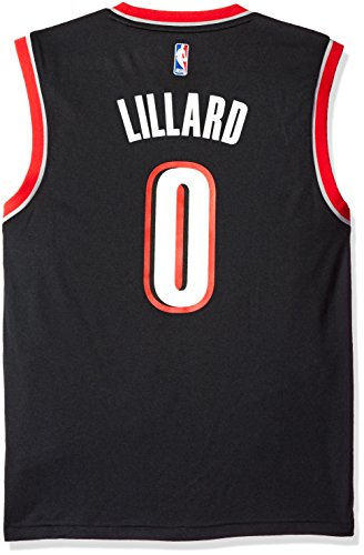 NBA Portland Trail Blazers Damian Lillard #0 Men's Replica Jersey, Medium, Black