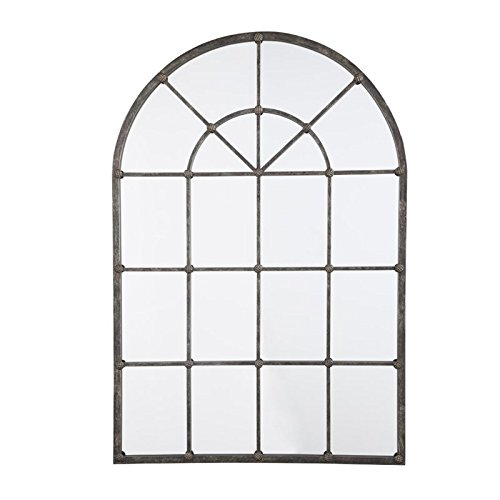 Ashley Furniture Signature Design - Oengus Arched Window Finished Metal Mirror - Traditional - Bronze Finish by Signature Design by Ashley