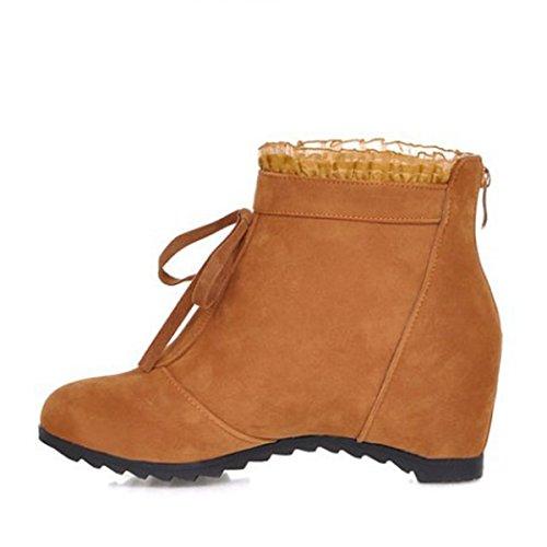 Spitze Süße Erhöhen Winter Stiefeletten Damen Funky Frauen Rubber Herbst Faux Schuhe qtwPBPp