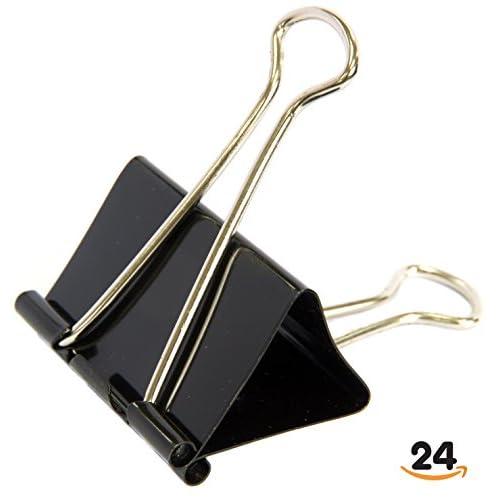Trusty Binder Clips, Black, Medium (24/Box)