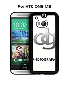 D&G HTC One M8 Funda Case, Brand Logo Protecive Snap On Anti Slip Vintage Personalized Ultra Slim Fit for HTC One M8