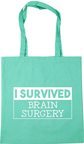 Gym litres x38cm surgery Tote I Shopping Bag 10 survived Mint Beach 42cm HippoWarehouse brain xvF7YUqF