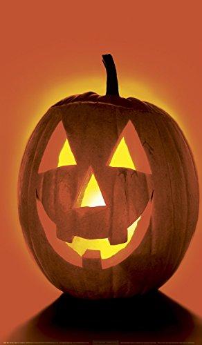 WOWindow Posters Jack O'Lantern Pumpkin Halloween Window Decoration 34.5