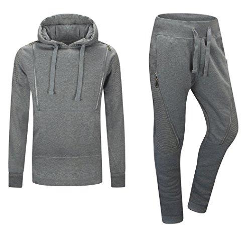 Grey Hooded Sweat - 9