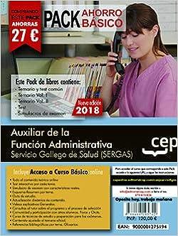 Pack de libros y Acceso Gratuito. Auxiliar de la Función Administrativa. Servicio Gallego de Salud SERGAS .: Amazon.es: Libros