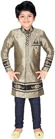 40b29299f8 Ahhaaaa Kids Indian Ethnic Bollywood Style Indo-Western Sherwani and  Breeches Set for Boys