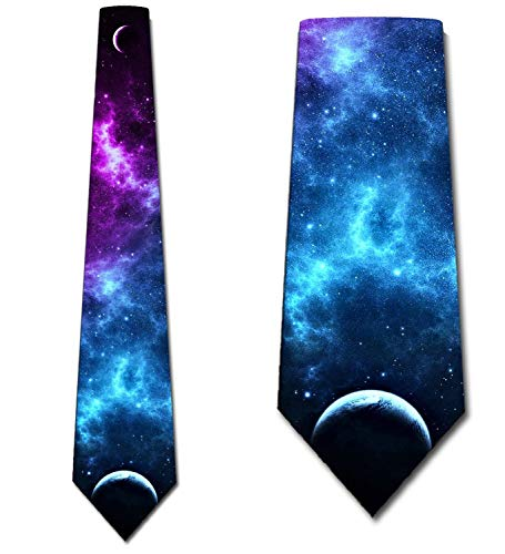 Galaxy Ties Mens Astronomy Space Necktie by Three Rooker