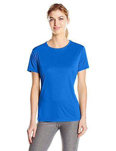 Craft Women's Essential Tee Shirt for Athletic Performance, Moisture Wicking, Lightweight Technical T Shirt, Sweden Blue, ()