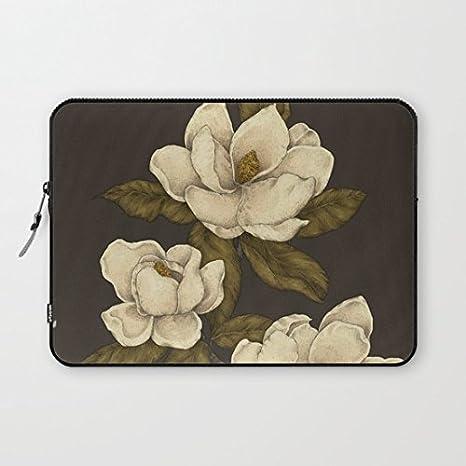 """longdong 15 """"Magnolias carcasa del ordenador bolsa Slim – Funda blanda para portátil Protectora"""
