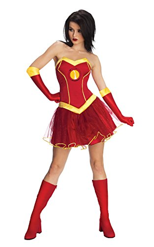 Marvel Secret Wishes Women's Universe Rescue Costume Tutu Dress, Multicolor, (Iron Man Couples Costume)