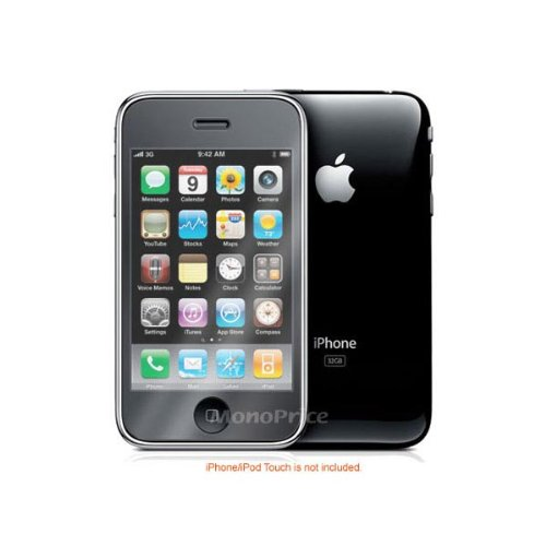 Monoprice Screen Protective Film with Matte Finish for iPhone 3GS - Retail Packaging - Multicoloured