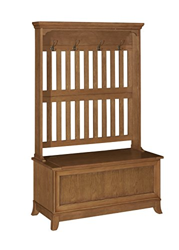 Powell's Furniture 15A7059 Oak Hall Tree,
