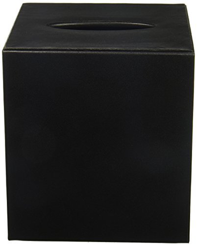 Classic Tissue Holder - Dacasso Leather Tissue Box Cover, Classic Black (A1037)