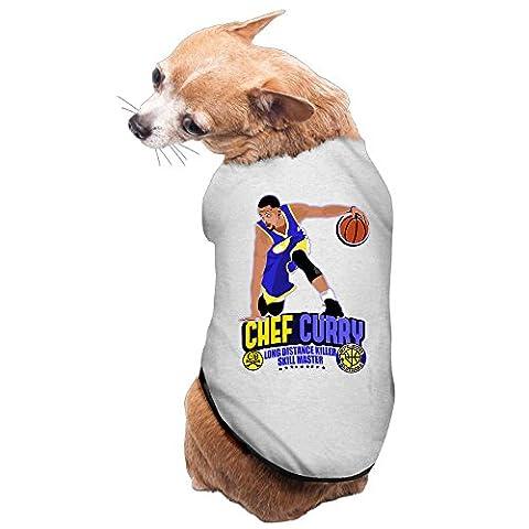 Geek Chef Curry Basketball Player Pet Dog 100% Fleece Vest Tank Top Gray US Size L - Lost Soles Vinyl