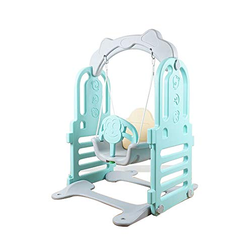 Wonder Space Indoor Toddler Swing Seat – Secure Swing Fun Playing Playpen Extention, Suitable for Wonder Space Playpen, Perfect for Infants and Babies (Grey&Pink) (Blue)