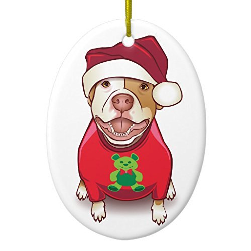 Christmas Tree Decorations A Pit Bull in a Bear Tee Ornament Oval Christmas Ornament Crafts Xmas Gift