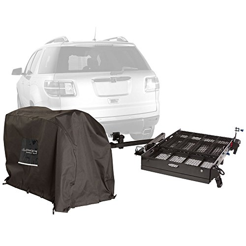 Silver Spring Premium Hitch Carrier with Scooter Cover 500 lb -