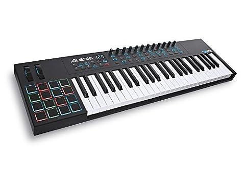 Alesis VI49 | Advanced 49-Key USB MIDI Keyboard & Drum Pad Controller (16 Pads / 12 Knobs / 36 (Alesis Usb Midi)