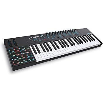 Alesis VI49 | Advanced 49-Key USB MIDI Keyboard & Drum Pad Controller (16 Pads / 12 Knobs / 36 Buttons)