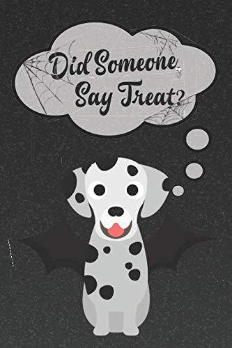 Dalmatian Lined Notebook: A Halloween Themed Notebook For Dalmatian Lovers (Dog Halloween Notebooks and -