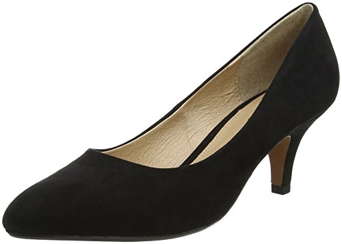 Lotus Damen Clio Pumps Black (Black Microfibre)