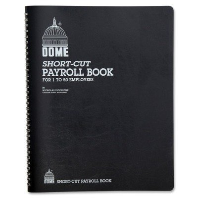 Dome Payroll Record, Single Entry System, Blue Vinyl Cover, 8 3/4 x11 1/4 Pages by DomeSkin by DomeSkin