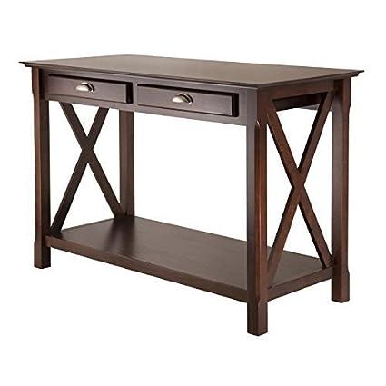 Amazon.com: Casa De Lujo mesa de Xola Consola con 2 cajones ...