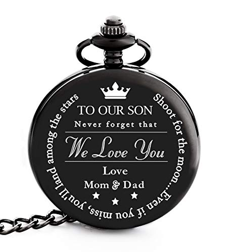 To My Son | Father, Mother and Son Graduation 2019 Gift - Engraved