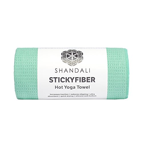 #1 Rated Hot Yoga Towel - Shandali Stickyfiber Yoga Towel - Mat-Sized, Microfiber, Super Absorbent, Anti-slip, Injury Free, 24